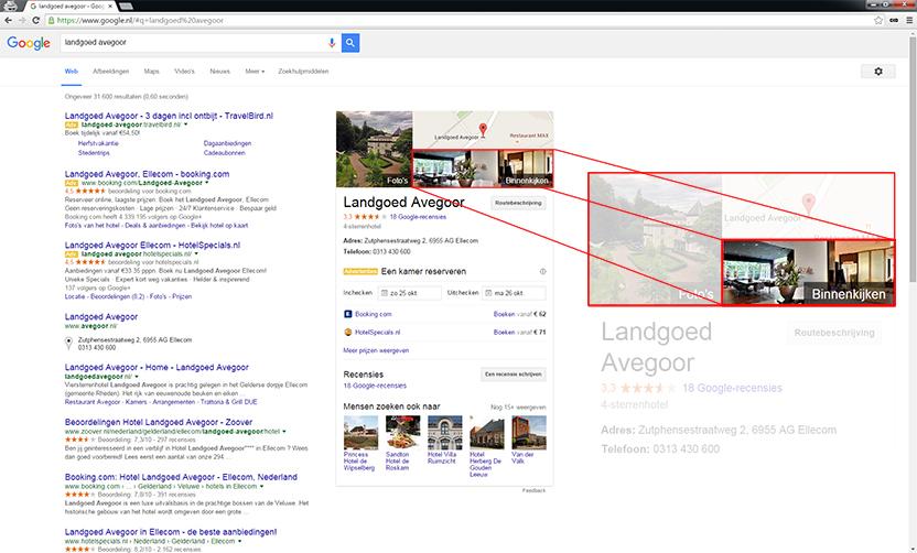Google Hotel Finder zoeken