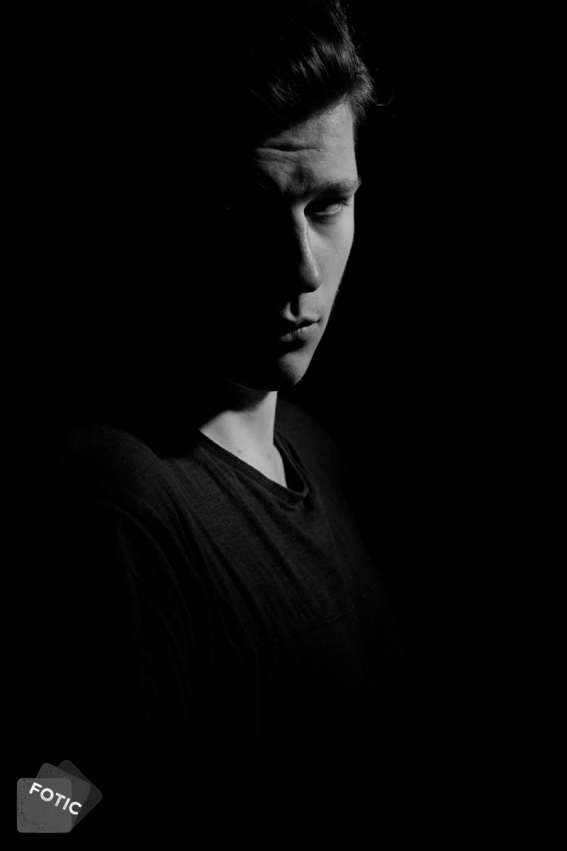 portretfoto Mart in zwartwit