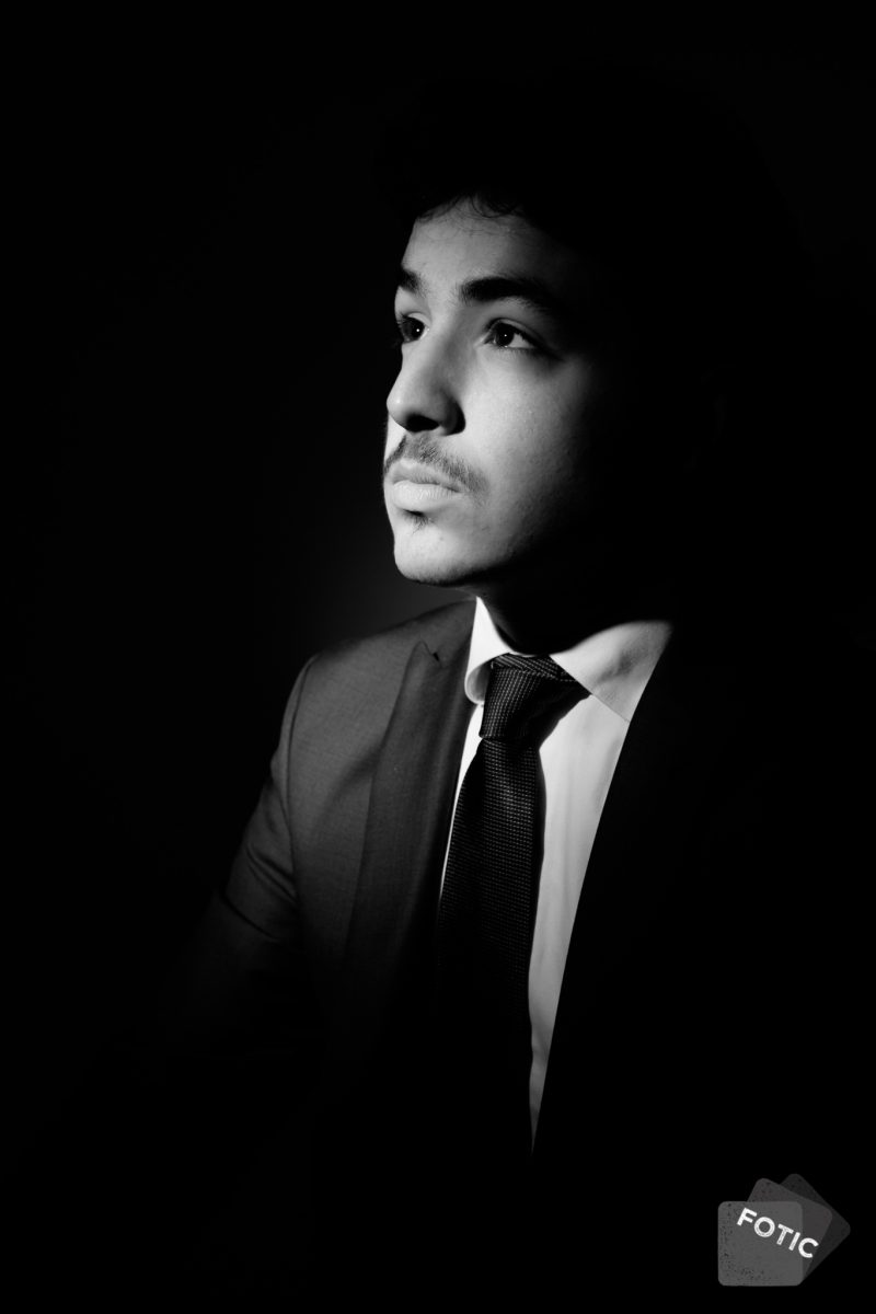 portretfoto Giuseppe Kalsbeek zwartwit
