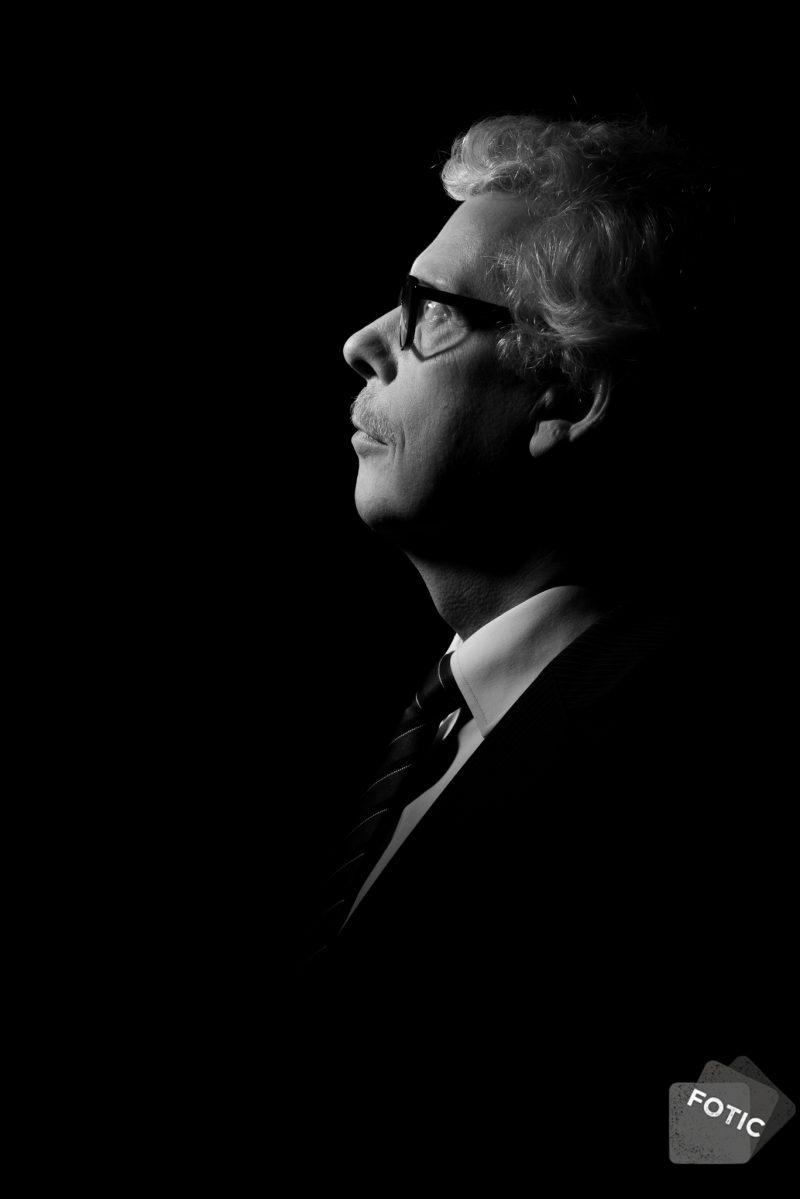 portretfoto Ben Visser zwartwit