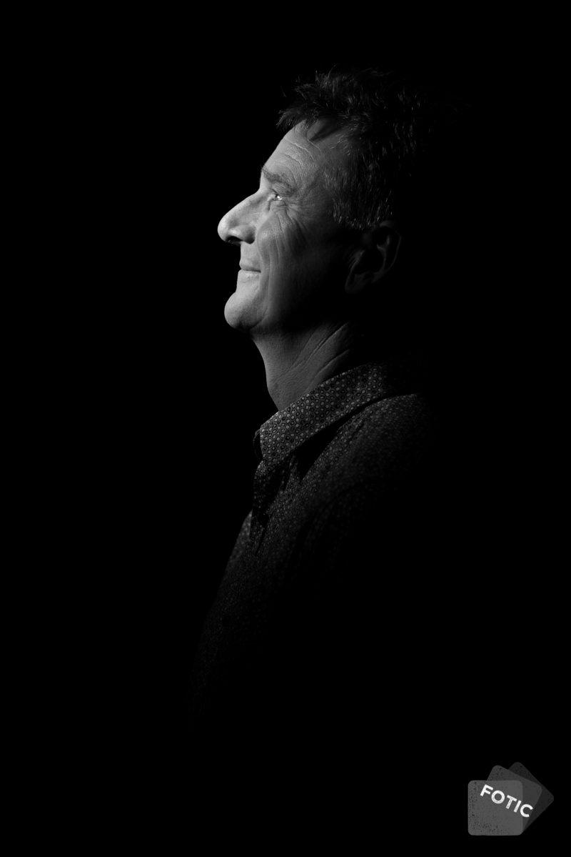 portretfoto Paul Koning zwartwit