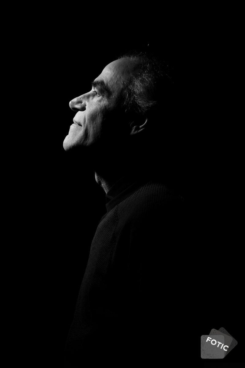 portretfoto Jan Buizer zwartwit