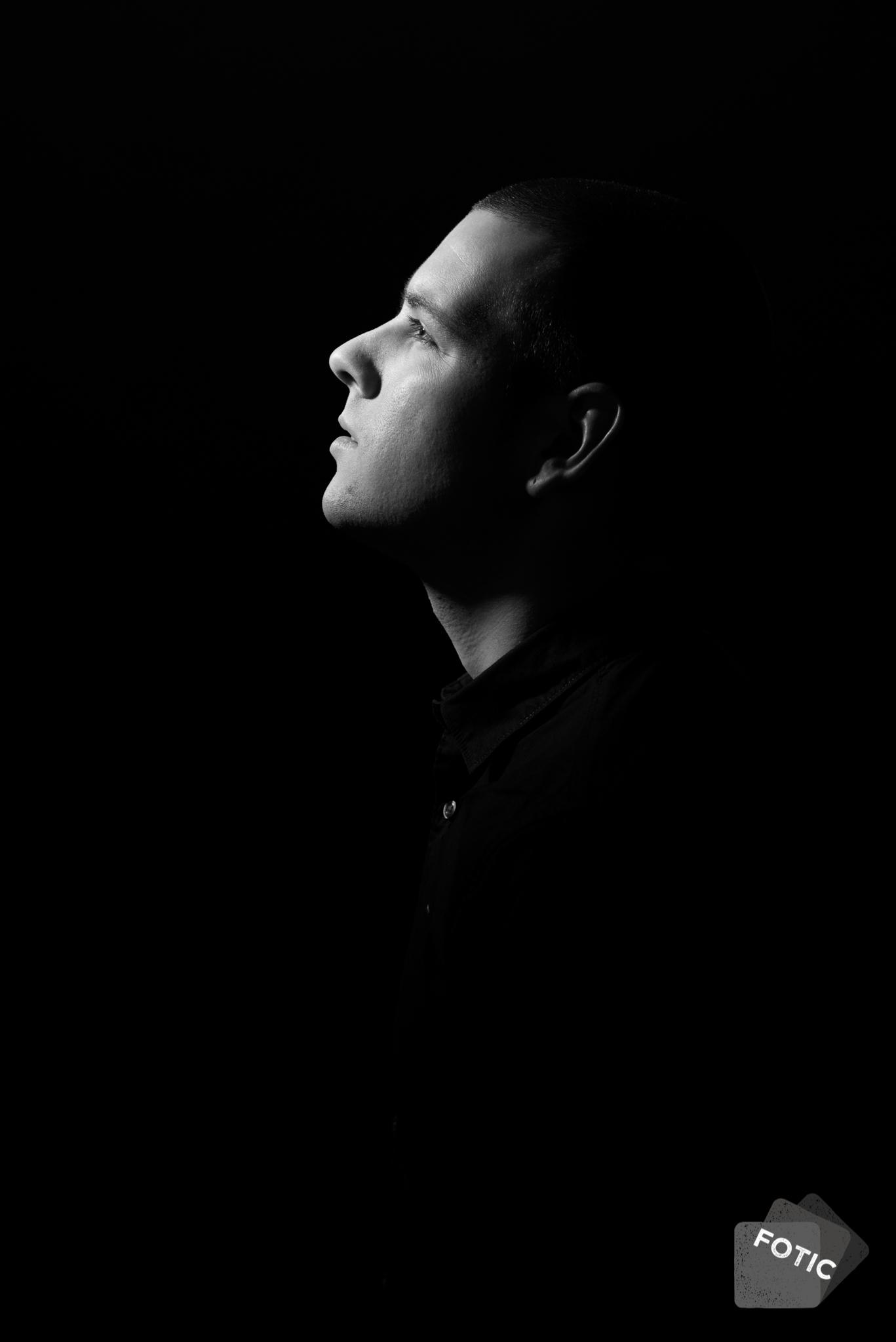 portretfoto Martijn van Keulen zwartwit