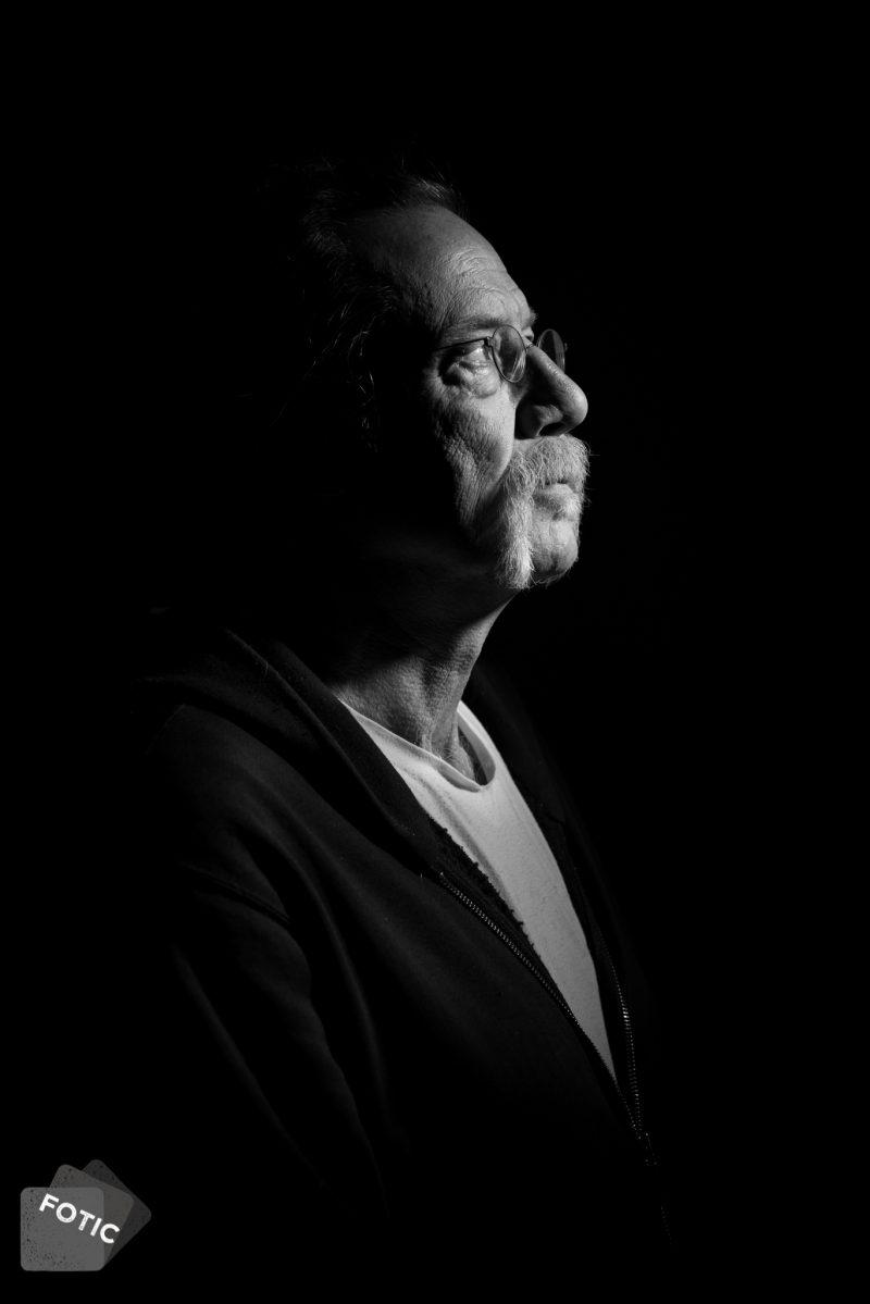 portretfoto Hans Vanhorck zwartwit